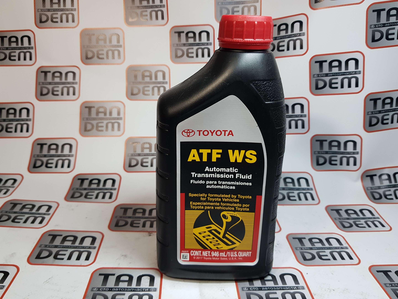 Жидкость трансмиссионная Toyota ATF WS, 1л. 00289-ATFWS, 08886-02305, 08886-80807