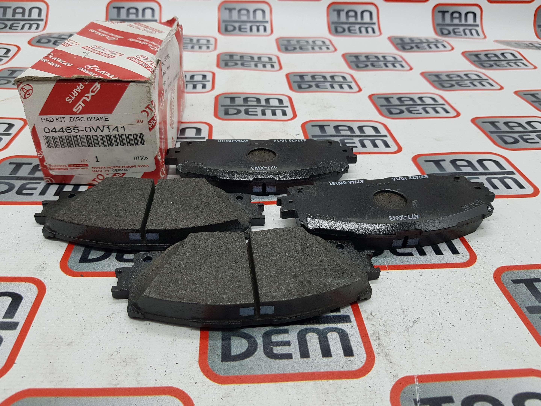 Колодки тормозные передние 04465-0W141, 04465-47060, 04465-47070, 04465-0W140